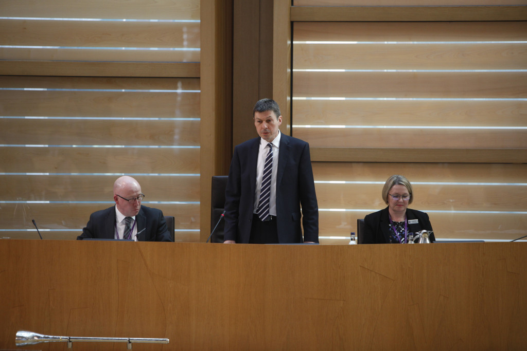 Ken Macintosh MSP is elected Presiding Officer of the Scottish Parliament by a secret ballot of MSPs, 12 May 2016 Pic - Andrew Cowan/Scottish Parliament