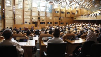Presiding Officer, Ken Macintosh MSP welcomes delegates and guests to the Scottish Parliament during the Opening Ceremony of the Edinburgh International Culture Summit 2016. 24 August 2016. Pic - Andrew Cowan/Scottish Parliament