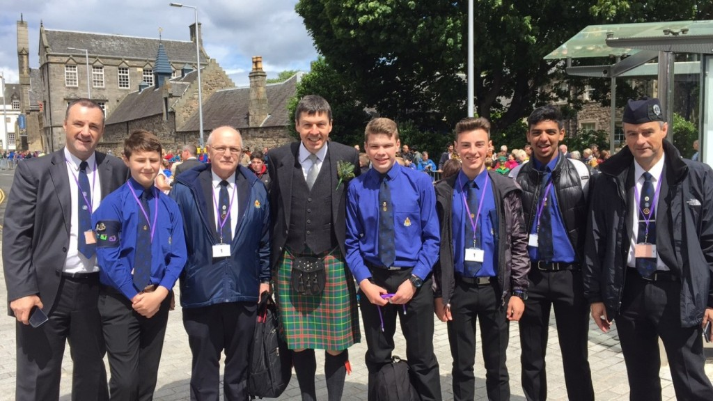 With representatives from the Boys Brigade