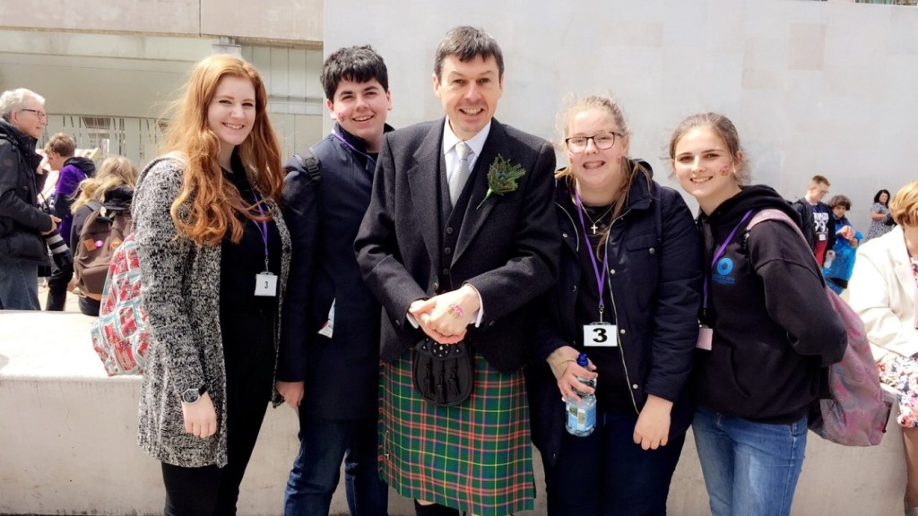 With representatives from the Scottish Youth Parliament