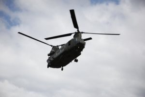 Travelling to RAF Lossiemouth on a Puma helicopter Pic - Andrew Cowan/Scottish Parliament
