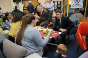 Meeting families of service personnel in St Aiden's Centre. Pic. Andrew Cowan/Scottish Parliament